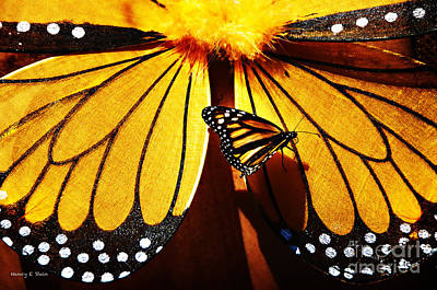 Butterfly Hitching A Ride 2 Print by Nancy E Stein