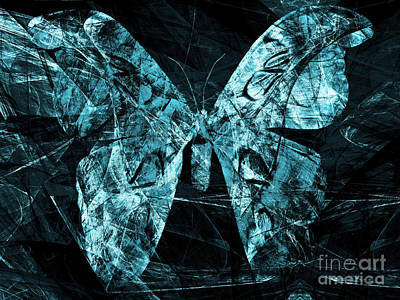 Pest Digital Art - Butterfly In Abstract Dsc2977cy by Wingsdomain Art and Photography