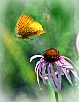 Butterfly In Flight Print by Marty Koch