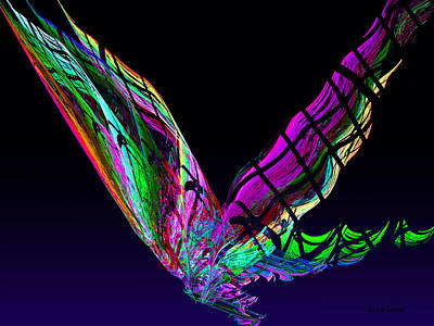 Fractal Photograph - Butterfly In Flight by Susan Savad