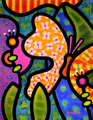 Insects Painting - Butterfly Jungle by Steven Scott