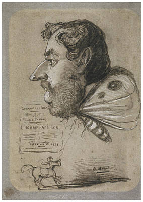 Impressionism Drawing - Butterfly Man by Claude Monet