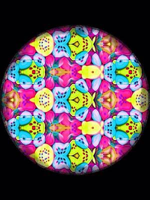 Butterfly Mandala Print by Karen Buford