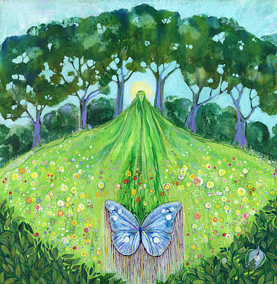 Cycles Painting - Butterfly Rising by Faith Nolton