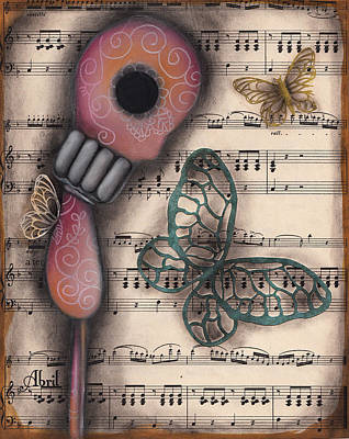 Pop Surrealism Painting - Butterfly Secrets  by  Abril Andrade Griffith