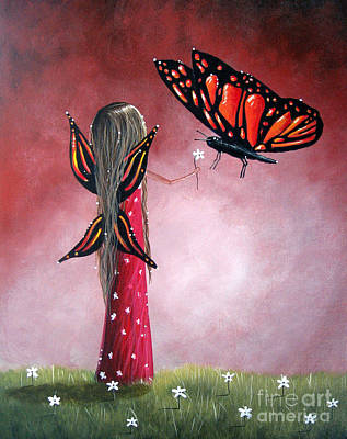 Fantasy Fairy Art Painting - Butterfly Whisperer By Shawna Erback by Shawna Erback