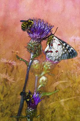 Three Sisters Digital Art - Butterfly Winged Rhapsody In Bee Minor by Belinda Greb