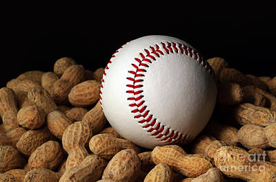 Buy Me Some Peanuts - Baseball - Nuts - Snack - Sport Print by Andee Design