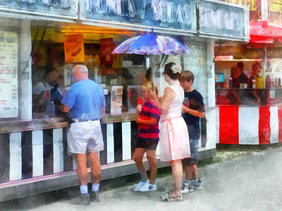 Women Photograph - Buying Ice Cream At The Fair by Susan Savad