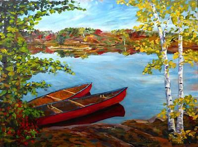 Buzzard Lake Solitude Original by Brent Arlitt