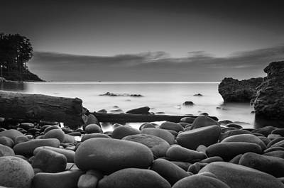 Webster Ny Photograph - Bw Stone  by Todd Newland
