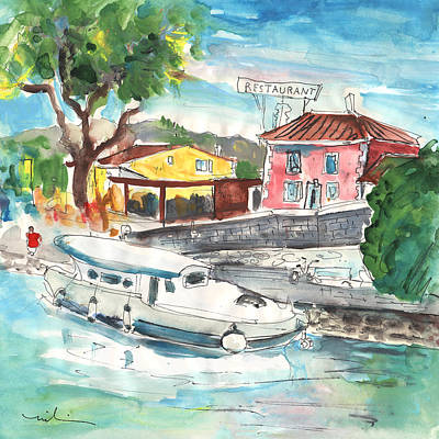 By A French Canal 02 Print by Miki De Goodaboom