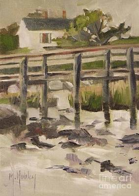 Seashell Painting - By The Dock by Mary Hubley