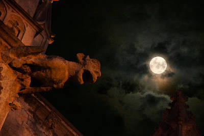 English Cathedrals Photograph - By The Light Of The Silvery Moon by Lisa Knechtel
