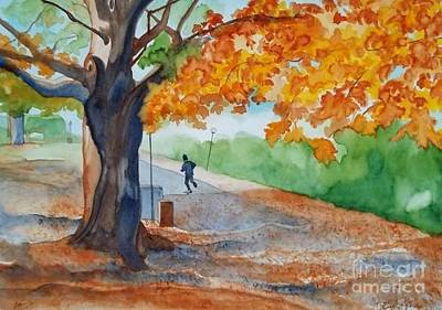 By The Rideau Canal Print by Lise PICHE