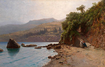 Lev Lagorio Painting - By The Sea. Crimea by Lev Feliksovich Lagorio