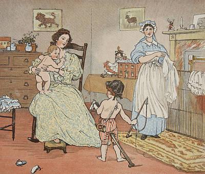 Bye Baby Bunting Print by Rnadolph Caldecott