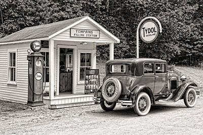 Tydol Gas Photograph - Bygone Days by Brenda Hackett
