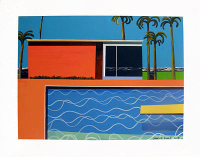Venice Beach Painting - Bythe Beautiful Sea by Charlie Spear