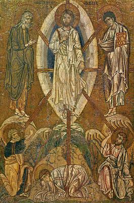 Byzantine Painting - Byzantine Icon Depicting The Transfiguration by Byzantine School
