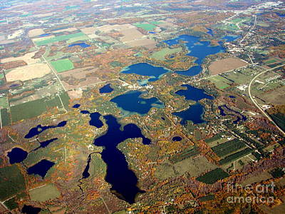 C-020 Chain O Lakes Waupaca Wisconsin Fall Print by Bill Lang