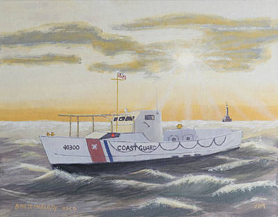 J Boat Painting - C G  40300 On Patrol by Jerry McElroy