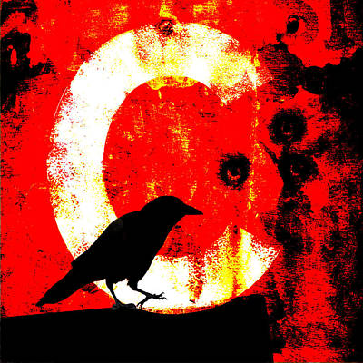Vivid Digital Art - C Is For Crow by Carol Leigh