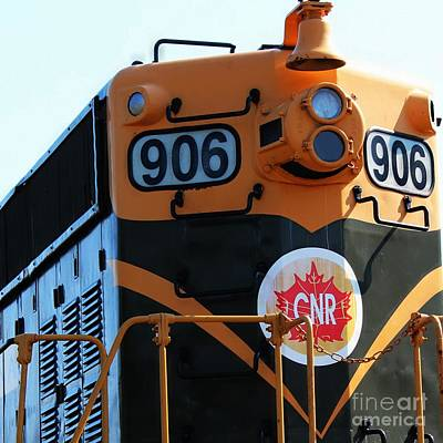 Old Caboose Digital Art - C N R Train 906 Rustic by Barbara Griffin