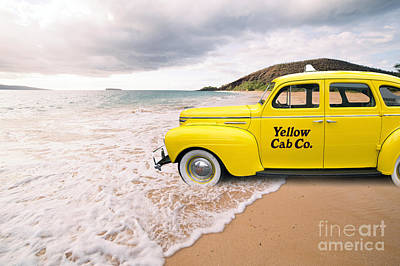 Weird Digital Art - Cab Fare To Maui by Edward Fielding