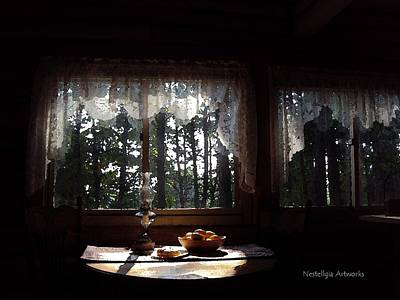 Cabin At Dawn Print by Marilyn Nestell