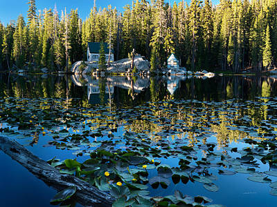 Mystic Lakes Photograph - Cabin By The Lake by Leland D Howard
