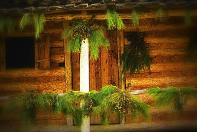 Decorated For Christmas Photograph - Cabin Christmas II by Nadalyn Larsen