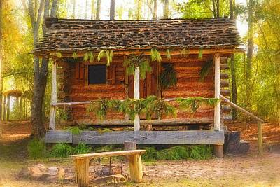 Decorated For Christmas Photograph - Cabin Christmas by Nadalyn Larsen
