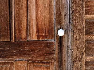 Pioneer Homes Photograph - Cabin Door by Leland D Howard