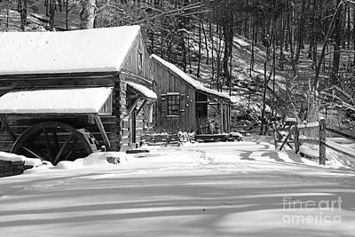 Cabin Fever In Black And White Print by Paul Ward