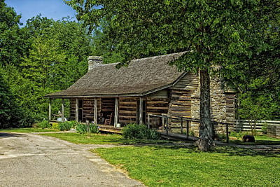 Rocking Chairs Photograph - Cabin In The Woods by Mountain Dreams