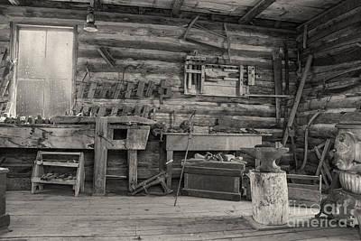 Rustic Cabin Interior Print by Juli Scalzi