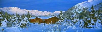Log Cabins Photograph - Cabin Mount Alyeska, Alaska, Usa by Panoramic Images