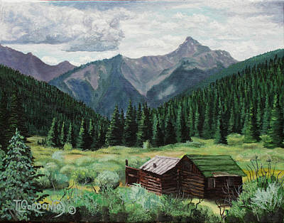 Cabin With A View Print by Timithy L Gordon