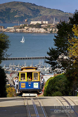 Alcatraz Photograph - Cable Car In San Francisco by Brian Jannsen