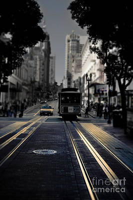 Cable Car In San Francisco Fine Art Print by Design Remix