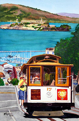 Alcatraz Painting - Cable Car No. 17 by Mike Robles