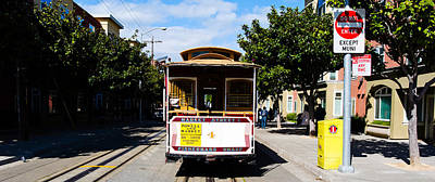 Cable Car On A Track On The Street, San Print by Panoramic Images