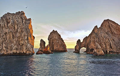 Cabo San Lucas Arch Sunset Print by Marcia Colelli