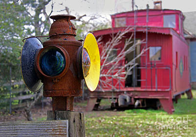 Caboose Print by Gayle Johnson