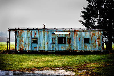 Railroad Photograph - Caboose On A Farm by Bill Swartwout