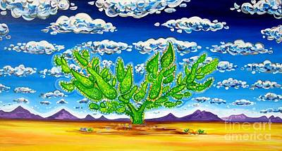 Galleries In Arizona Painting - Cactus In The Clouds II by Rachel Houseman