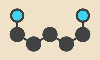 Cadaverine Foul Smelling Molecule Print by Molekuul