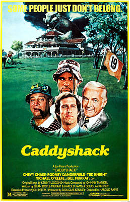 Caddyshack, Us Poster Art, From Left Print by Everett