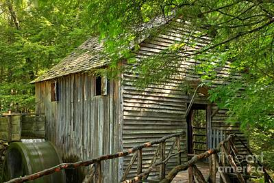 Grist Mill Photograph - Cades Cove Grist Mill by Adam Jewell